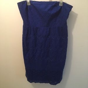 🐢 Old navy strapless eyelet and embroidered dress